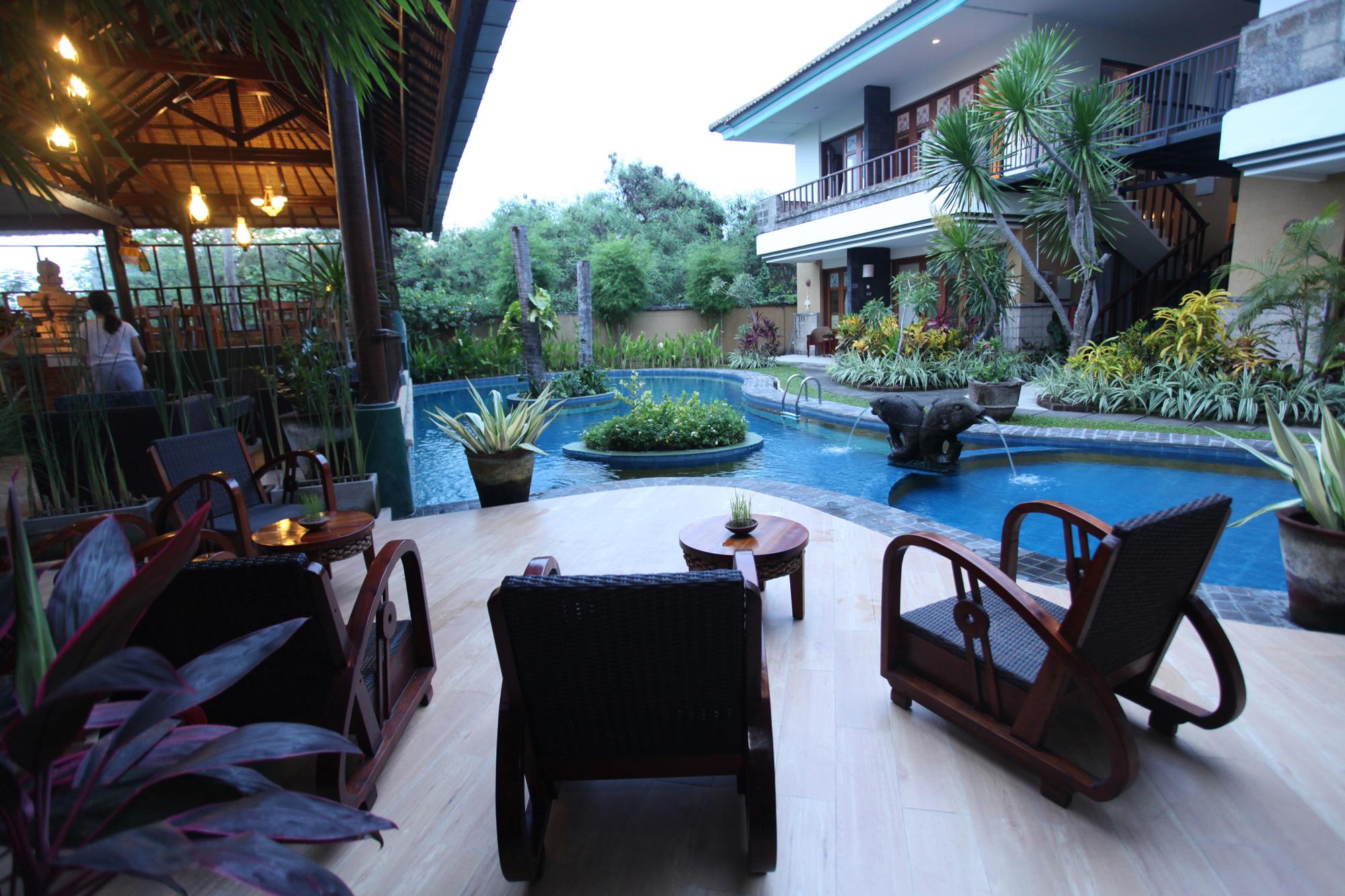 poolside, sanur budget hotel