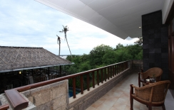 balcony in junior suite, sanur hotels